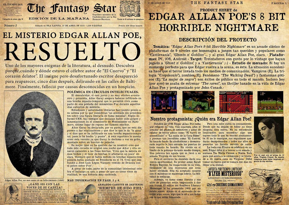 Allan Poe Nightmare early concept