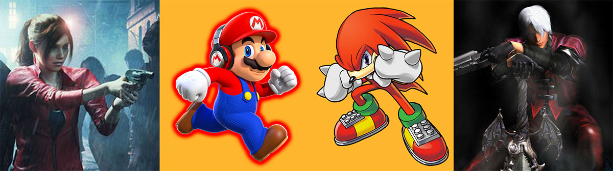 Red in the creation of characters like Mario, Claire Redfielf, Knuckles and Dante.