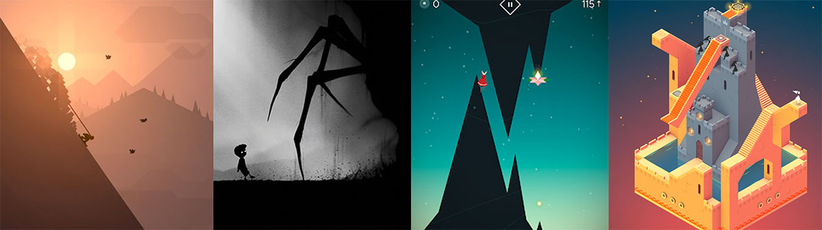 Art in games like Limbo, Monument Valley, Fern Flower and Alto´s Odyssey.