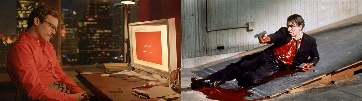 Use of red in films like Her and Reservoir Dogs
