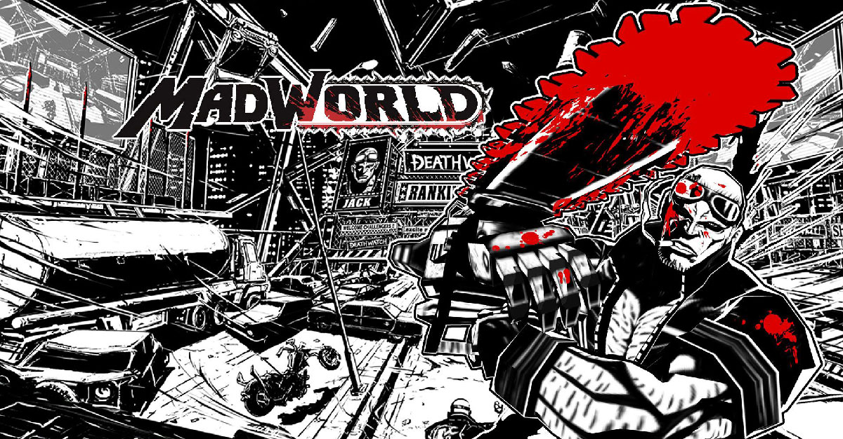 Example of black and white in video game Mad World