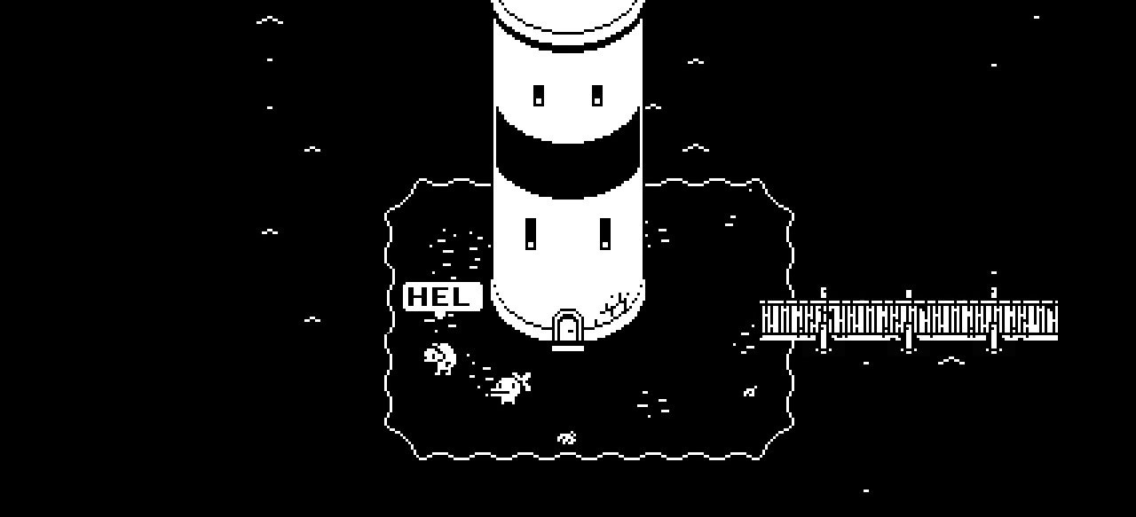 Games like Minit make great use of black and white retro art