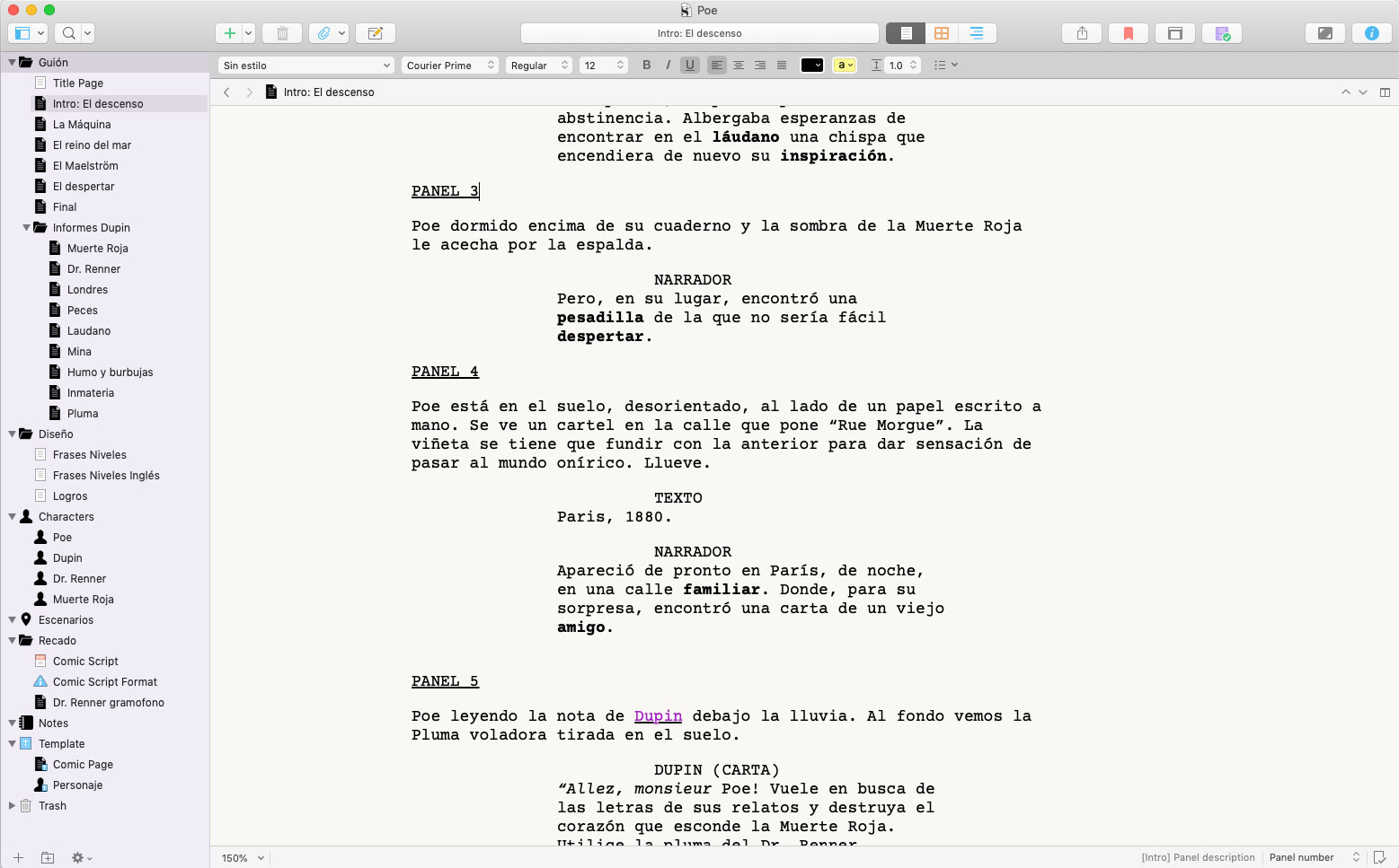 Write a video game script with Scrivener - Gametopia