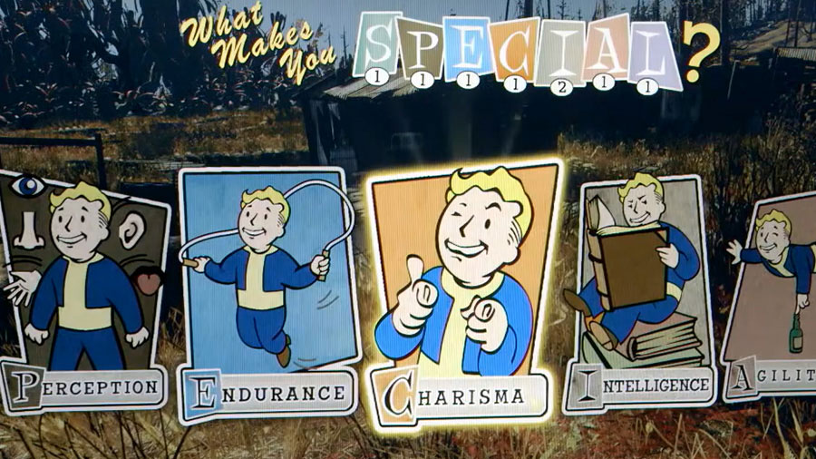 Representation of the Fallout feature system