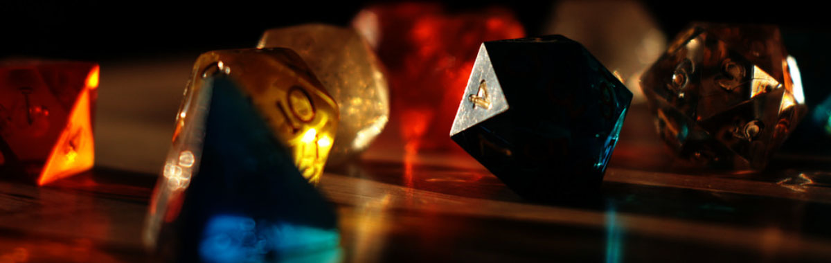 Different types of dice used during role games