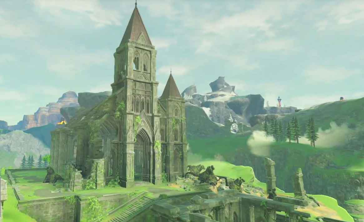 The Temple of Time in The Legend of Zelda: Breath of the Wild.