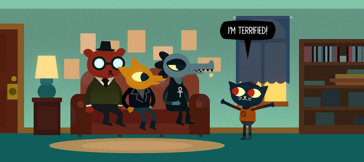 Night in to the woods. Video game about depression